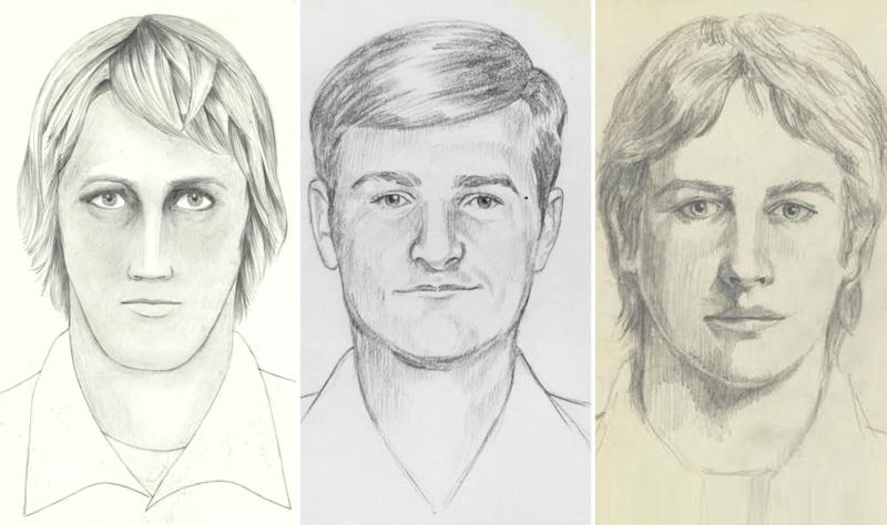 Police sketches of the Golden State Killer