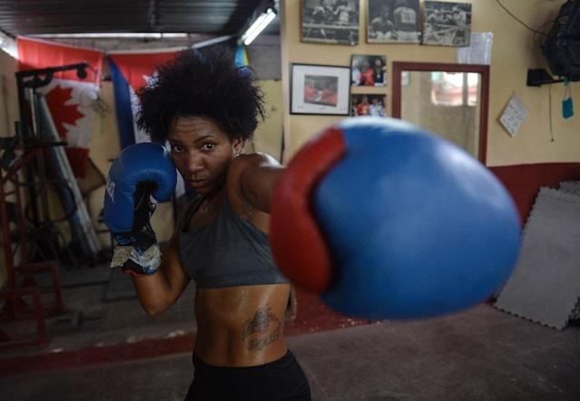 Idamelys Moreno and other women boxers hold out hope that the Cuban Sports Institute will eventually allow women's boxing ahead of the 2020 Tokyo Olympics (AFP Photo/YAMIL LAGE)