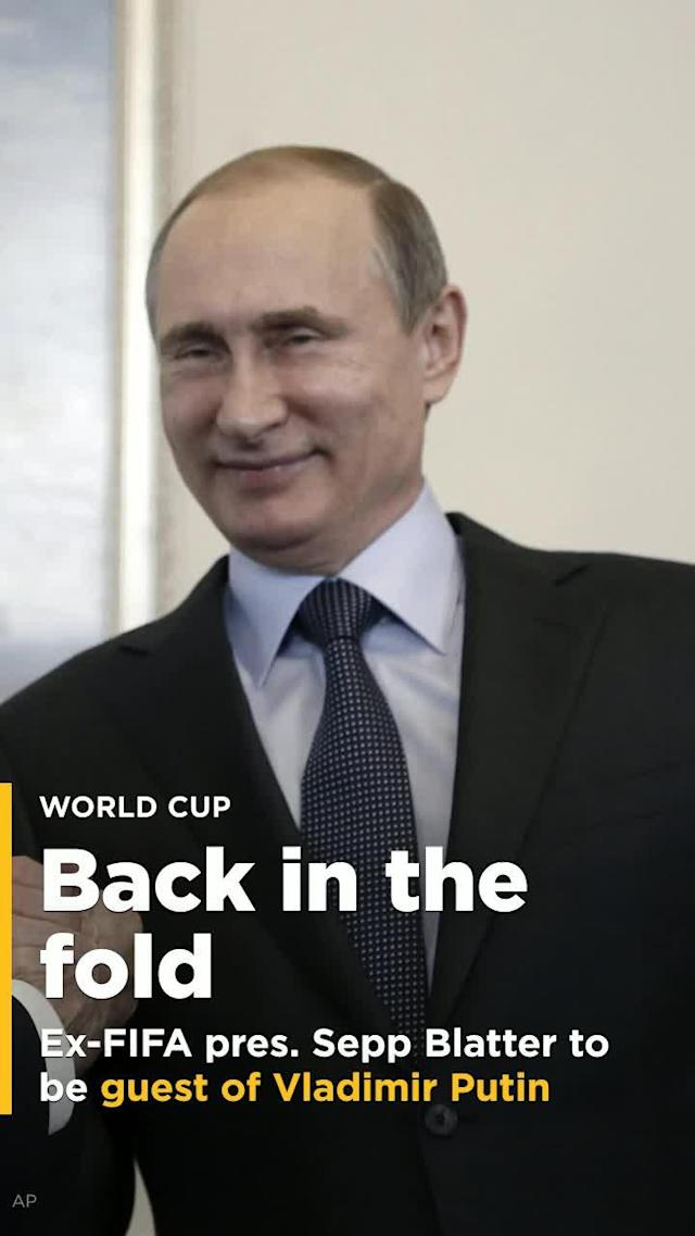 Russian President Vladimir Putin is going to host disgraced ex-FIFA President Sepp Blatter for two games during the World Cup.