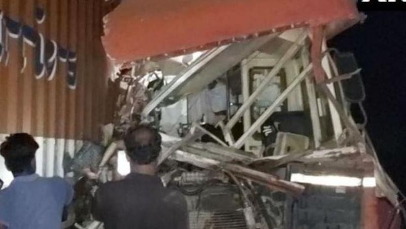 Maharashtra Road Accident: 15 Dead, Several Injured After Bus Collides With Canter Truck in Dhule