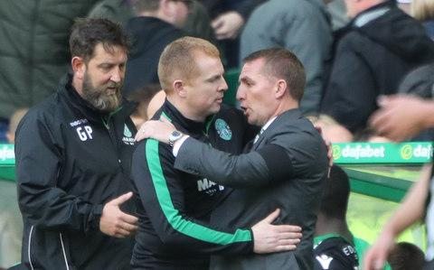 Celtic manager Brendan Rodgers and Hibernian manager Neil Lennon - Credit: PA