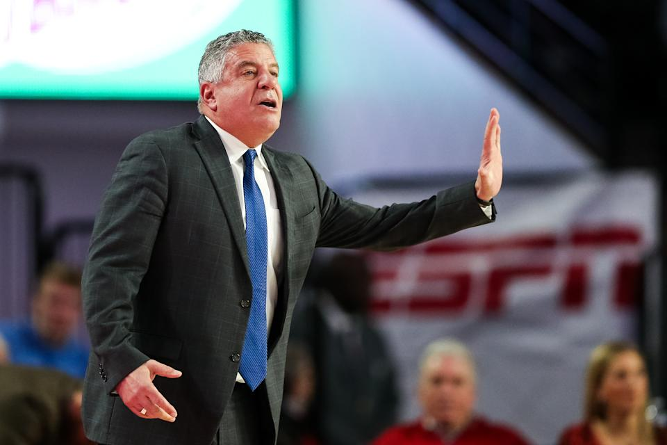 Head Coach Bruce Pearl of the Auburn Tigers