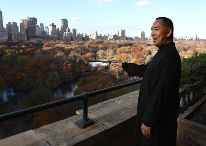 Billionaire Guo Wengui, who is seeking asylum in the United States after accusing officials in his native China of corruption, is photographed at his New York apartment on November 28, 2017 (AFP Photo/TIMOTHY A. CLARY)