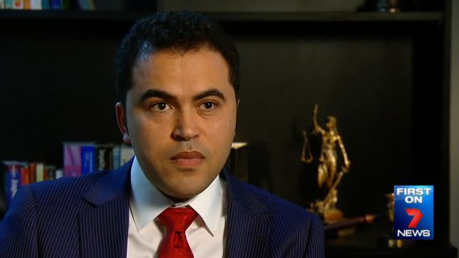 Matt Awad, Muslim family lawyer. Photo: 7 News