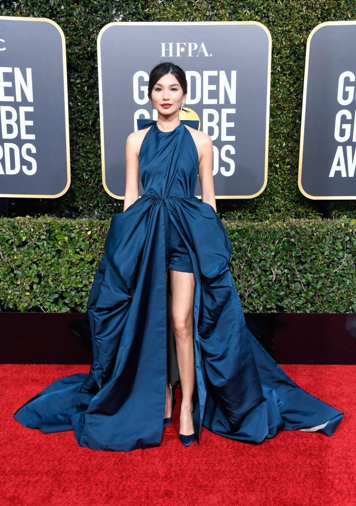 <p>Gemma Chan attends the 76th Annual Golden Globe Awards at the Beverly Hilton Hotel in Beverly Hills, Calif., on Jan. 6, 2019. (Photo: Getty Images) </p>