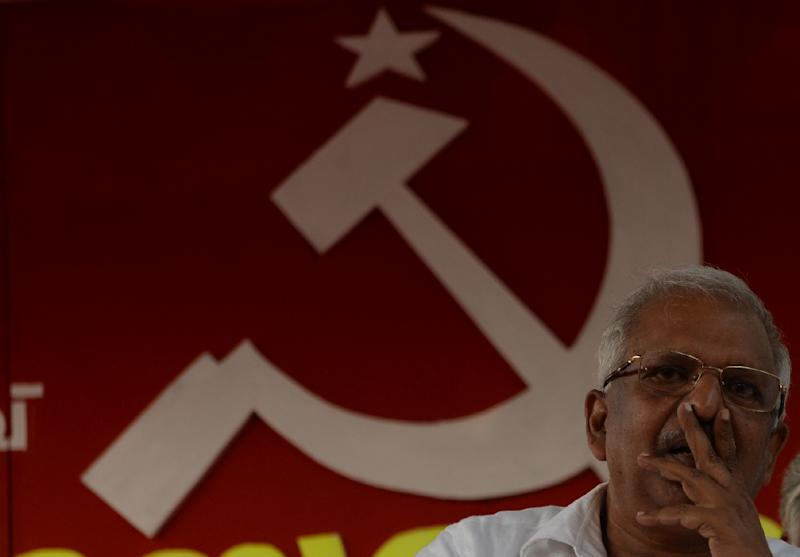 P. Jayarajan is standing as a candidate in Kerala for the Communist Party of India (Marxist) (AFP Photo/ARUN SANKAR)
