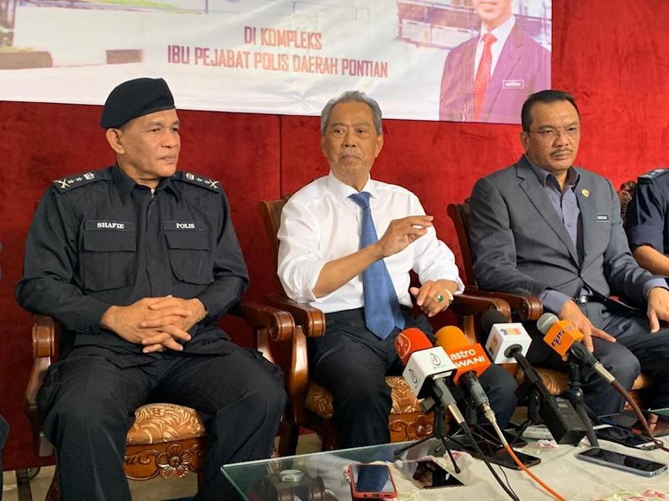 Home Minister Tan Sri Muhyiddin Yassin said the authorities take a serious view of the MACC's claims. — Picture by Ben Tan
