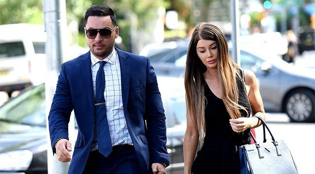 Salim Mehajer and his wife Aysha, arrive at Bankstown Court House in November 2015. Photo: AAL