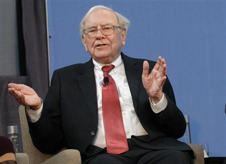 Buffett, co-chair of the 10,000 Small Businesses Advisory Council, takes part in a panel discussion in Detroit, Michigan