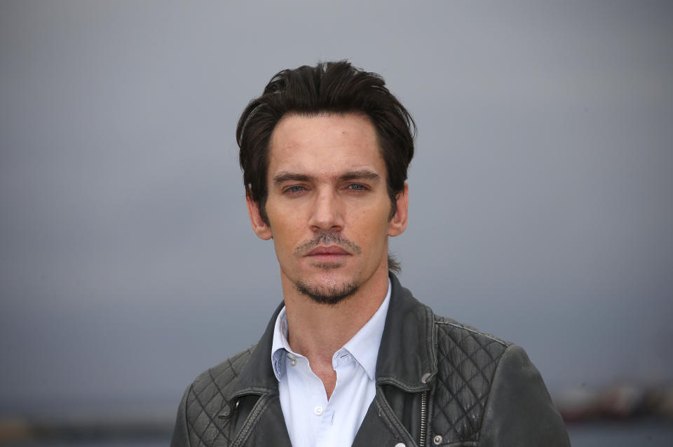 Actor Jonathan Rhys Meyers poses during a photocall at the MIPTV, the International Television Programs Market, in Cannes, France, April 4, 2016. REUTERS/Eric Gaillard