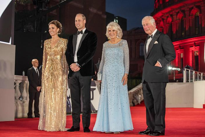 The Royal Foursome attended the premiere in a rare joint engagement (Getty Images)