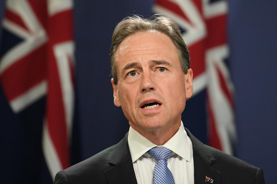 Federal Minister for Health Greg Hunt. Source: AAP