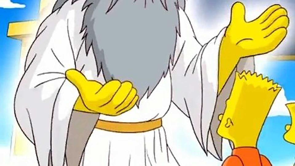 God is one of two characters in the Simpsons universe who has five fingers