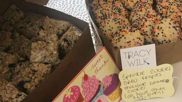PHOTO: New York Chef Tracy Wilk bakes items for hospital workers on the front lines of the coronavirus epidemic. Sprinkle cookies are one of her top baked goods that she sends their way. (Courtesy Tracy Wilk)