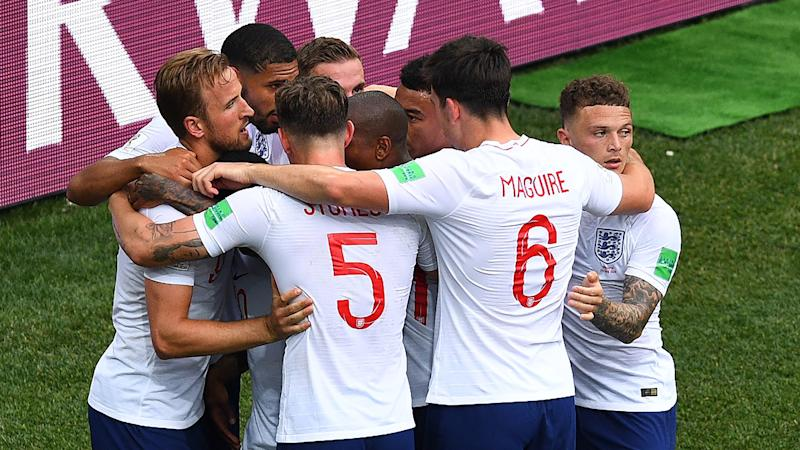 England fans erupt with joy at World Cup penalty victory