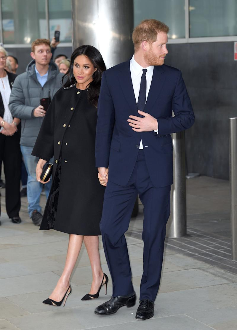 Meghan and Harry depart New Zealand House in London after signing the book of condolence following the New Zealand terror attack that saw at least 50 people killed at a mosque in Christchurch.