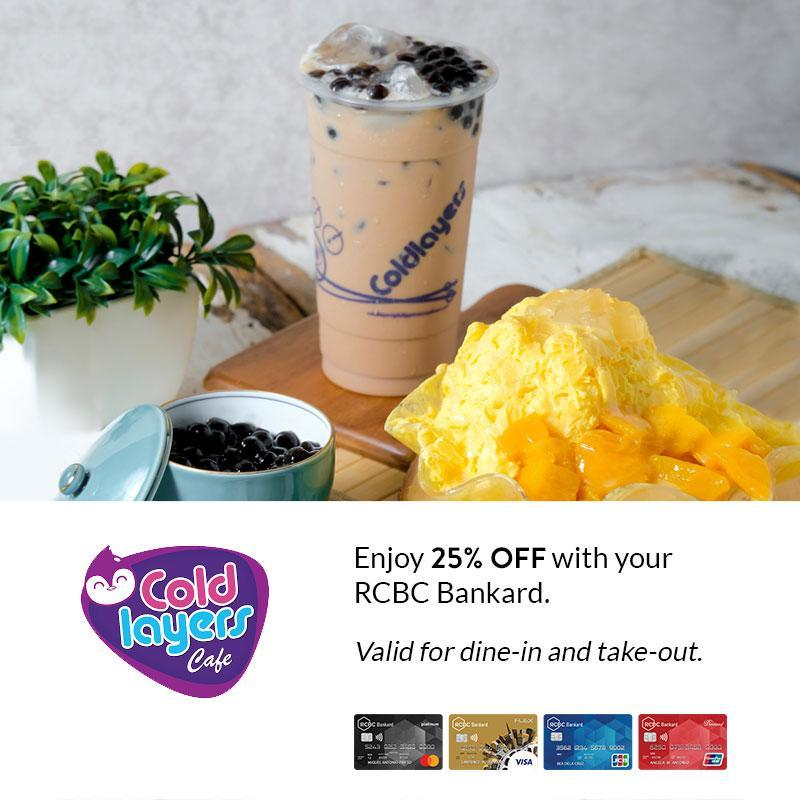 cold layers cafe credit card promo
