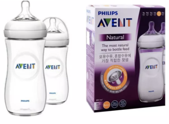 Philips Avent Natural Bottles 330ml Twin Pack. (PHOTO: Lazada Singapore)