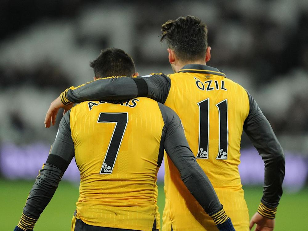 Sanchez and Ozil have both stalled over a new contract (Getty)