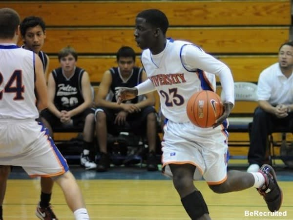 Los Angeles University boys basketball player Victor Nwaba