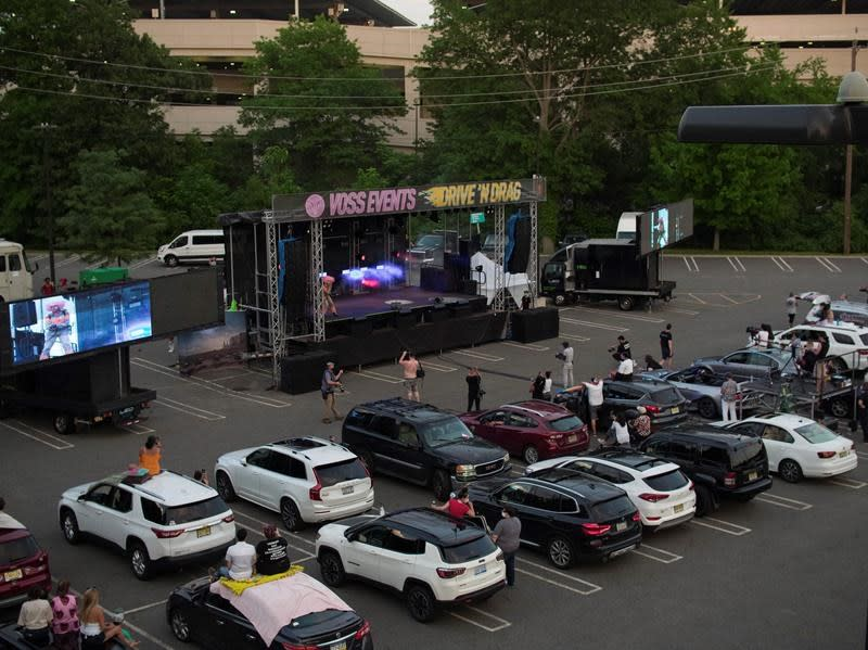 Now playing at the mall parking lot: movies, drag shows