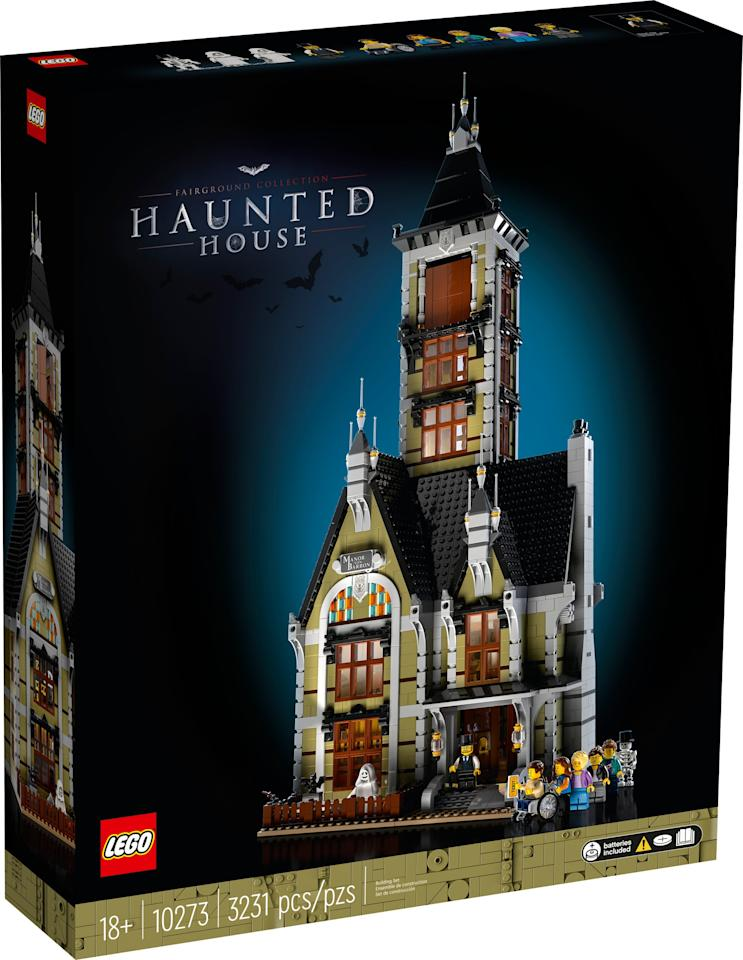 """<p>The <a href=""""https://www.popsugar.com/buy/Lego-Creator-Haunted-House-573625?p_name=Lego%20Creator%20Haunted%20House&retailer=lego.com&pid=573625&price=250&evar1=moms%3Aus&evar9=47244751&evar98=https%3A%2F%2Fwww.popsugar.com%2Ffamily%2Fphoto-gallery%2F47244751%2Fimage%2F47468728%2FLego-Creator-Haunted-House&list1=toys%2Clego%2Ctoy%20fair%2Ckid%20shopping%2Ckids%20toys&prop13=mobile&pdata=1"""" rel=""""nofollow"""" data-shoppable-link=""""1"""" target=""""_blank"""" class=""""ga-track"""" data-ga-category=""""Related"""" data-ga-label=""""https://www.lego.com/en-us/product/haunted-house-10273"""" data-ga-action=""""In-Line Links"""">Lego Creator Haunted House</a> ($250, available June 1) is aimed at kids ages 18 and up (though younger builders could totally get in on the action!) and has 3,231 pieces.</p>"""