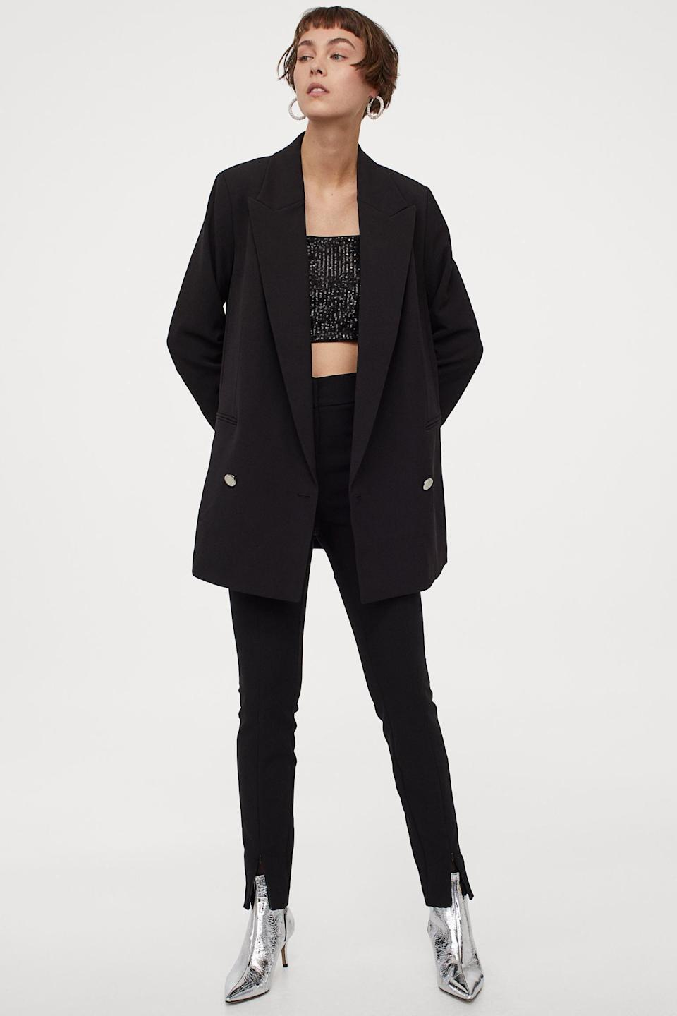 <p>This <span>H&M Oversized Jacket</span> ($50) is a perfect layering piece.</p>