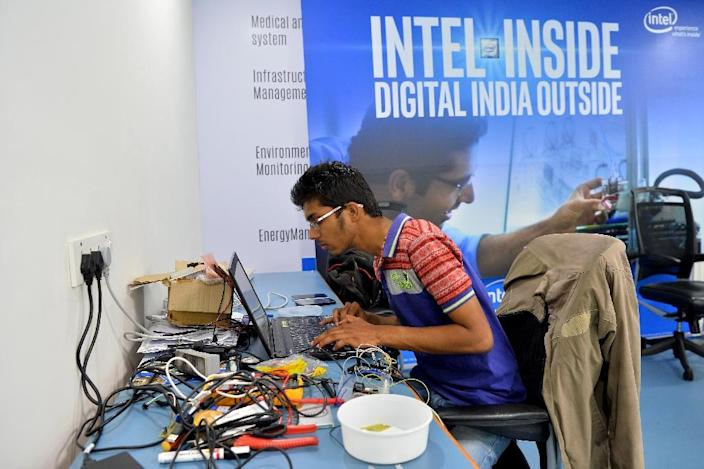 Computer professionals from India make up the largest segment of US visa holders under a program aimed at attracting skilled workers (AFP Photo/Manjunath KIRAN)