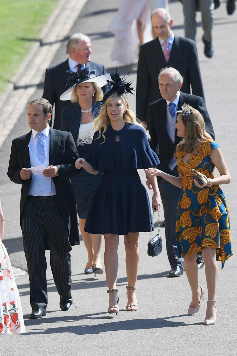 Chelsy Davy, Prince Harry's ex, attends the wedding of Prince Harry to Ms Meghan Markle at St George's Chapel, Windsor Castle on May 19, 2018 in Windsor, England.