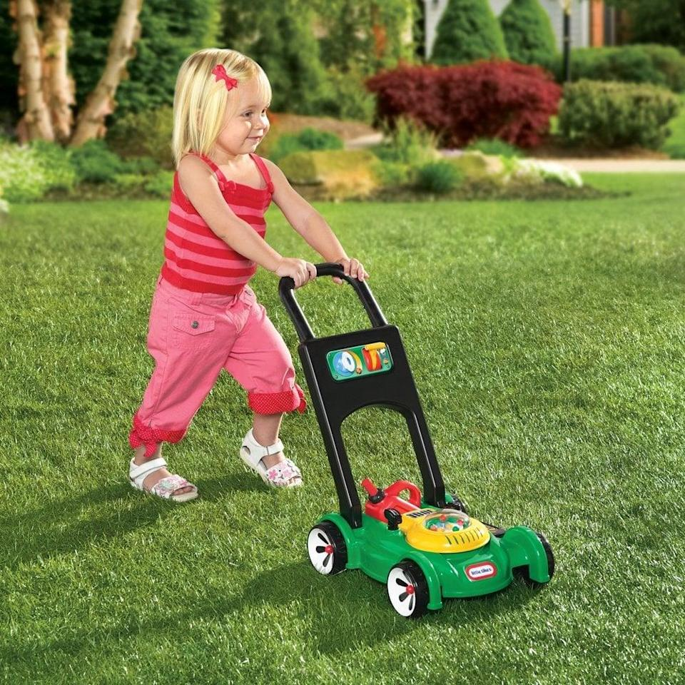 "<p>Popping beads make the <a href=""https://www.popsugar.com/buy/Little-Tikes-Gas-n-Go-Mower-398620?p_name=Little%20Tikes%20Gas%20%27n%20Go%20Mower&retailer=walmart.com&pid=398620&price=22&evar1=moms%3Aus&evar9=25800161&evar98=https%3A%2F%2Fwww.popsugar.com%2Fphoto-gallery%2F25800161%2Fimage%2F44870140%2FLittle-Tikes-Gas-n-Go-Mower&list1=gifts%2Choliday%2Cgift%20guide%2Cparenting%2Ckid%20shopping%2Choliday%20for%20kids%2Cgifts%20for%20toddlers%2Cbest%20of%202019&prop13=api&pdata=1"" class=""link rapid-noclick-resp"" rel=""nofollow noopener"" target=""_blank"" data-ylk=""slk:Little Tikes Gas 'n Go Mower"">Little Tikes Gas 'n Go Mower</a> ($22) sound and feel like a real lawn mower.</p>"