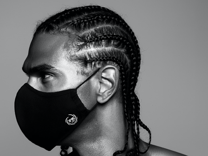 The VP195 mask worn by former professional boxer David Haye: The Black Mask Company