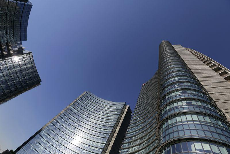 File photo of the UniCredit bank headquarters in Milan