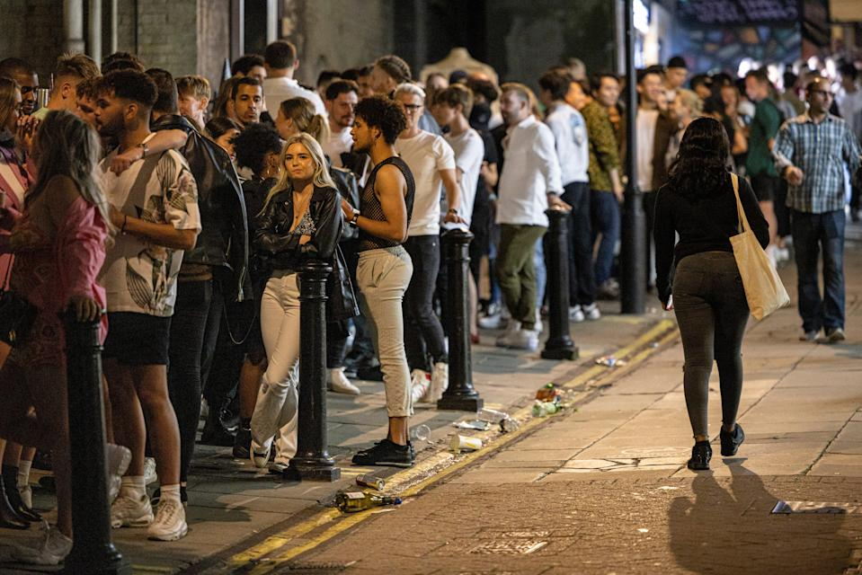 Queue for Heaven, one of the capital's most famous clubs. Now the owners are hoping young people will line up for jabs (Getty Images)