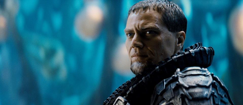 """This film publicity image released by Warner Bros. Pictures shows Michael Shannon as General Zod in """"Man of Steel."""" (AP Photo/Warner Bros. Pictures)"""