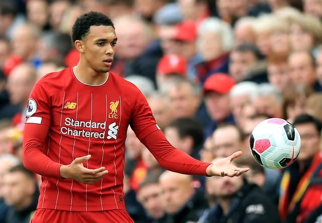 Trent Alexander-Arnold has been impressing for Liverpool again this season (Peter Byrne/PA)