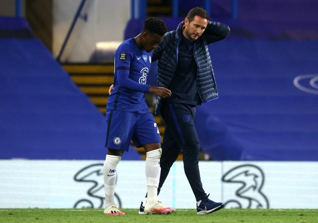 Toni Rudiger, left, has not featured for Frank Lampard's side this season