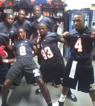 Jaleel Gipson, number 33, died after a tragic injury suffered in a Spring tackle drill — Facebook