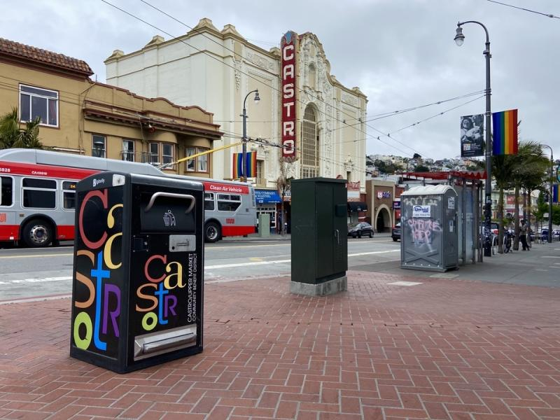 The Castro's five Bigbelly trash cans will be removed this week.