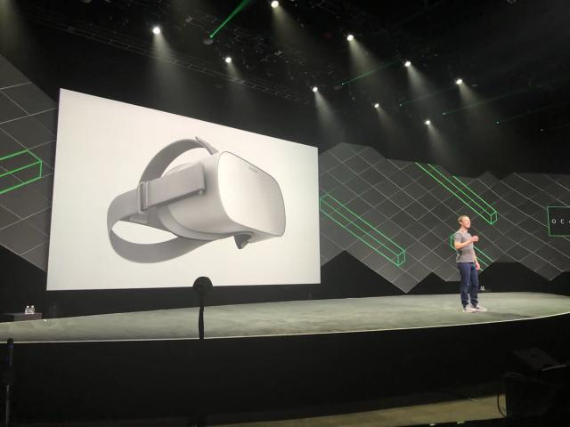 The Oculus Go headset ships early next year for $199. Source: JP Mangalindan
