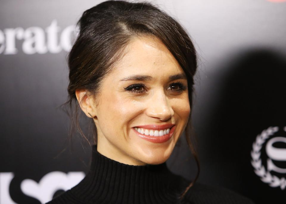 LOS ANGELES, CA - JANUARY 21:  Meghan Markle arrives at the USA Network's