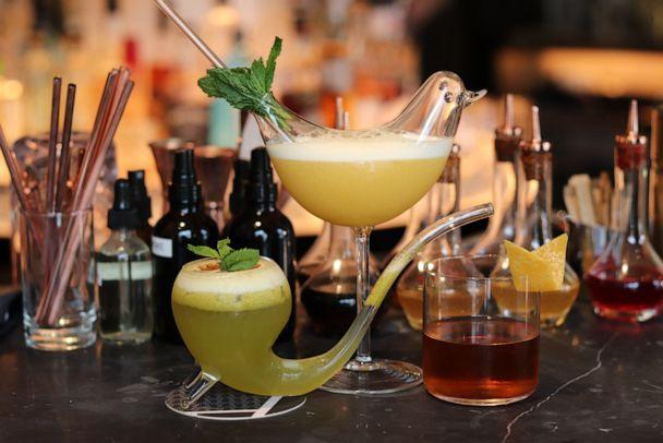 PHOTO: An array of cocktails from INTERSECT. (ABC News)