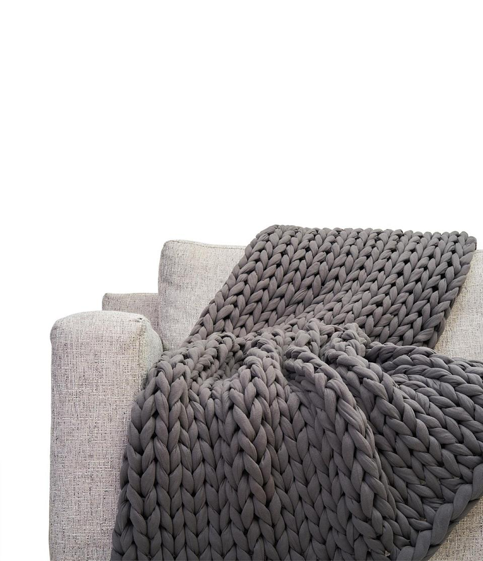 <p>If you prefer darker shades in your room, get the <span>Bearaby Cotton Napper</span> ($249) in gray.</p>