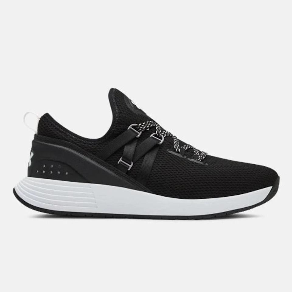 """<p>These sneakers are lightweight and stable, with just the right amount of cushion for workouts that involve some impact. I wear them often for a circuit-training class that's mostly strength but also includes a significant amount of plyometrics (like squat jumps) and jumping rope, both of which my feet appreciate some more substantial cushion for.</p> <p><strong>Buy them:</strong> $80, <a href=""""https://www.underarmour.com/en-us/ua-w-breathe-trainer-x-nm/pid3021335-001"""">underarmour.com</a></p>"""