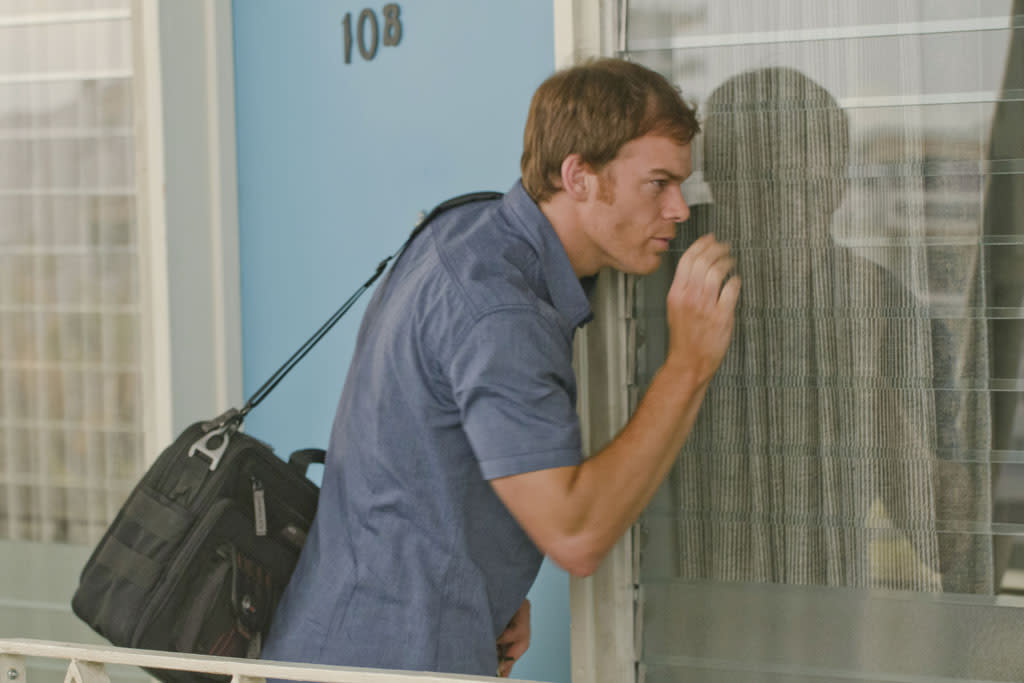 "Michael C. Hall as Dexter Morgan in the ""Dexter"" episode, ""Swim Deep."""