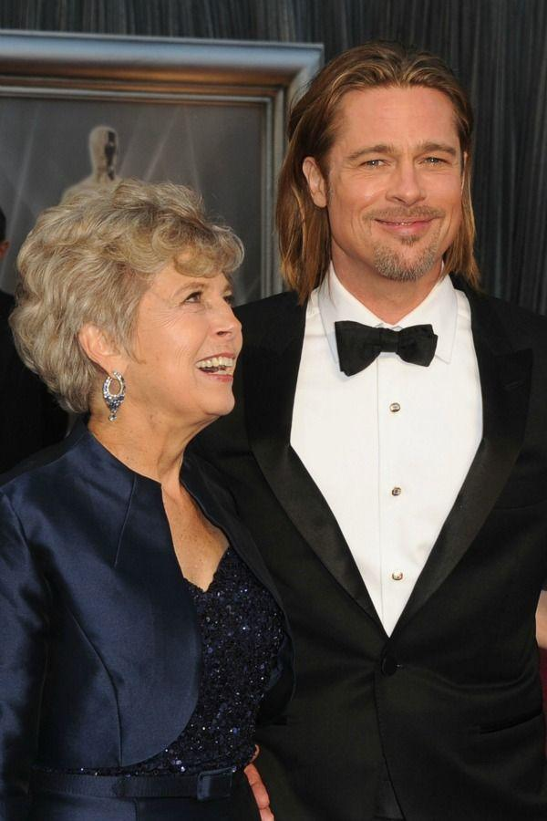<p>Mom Jane Etta Pitt's got nothing but love in her eyes after Brad asked her to be his date for Oscars night in 2012. </p>