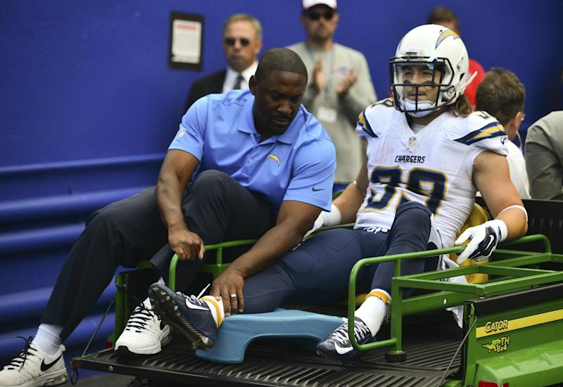 Chargers Running Back Woodhead Out For Year
