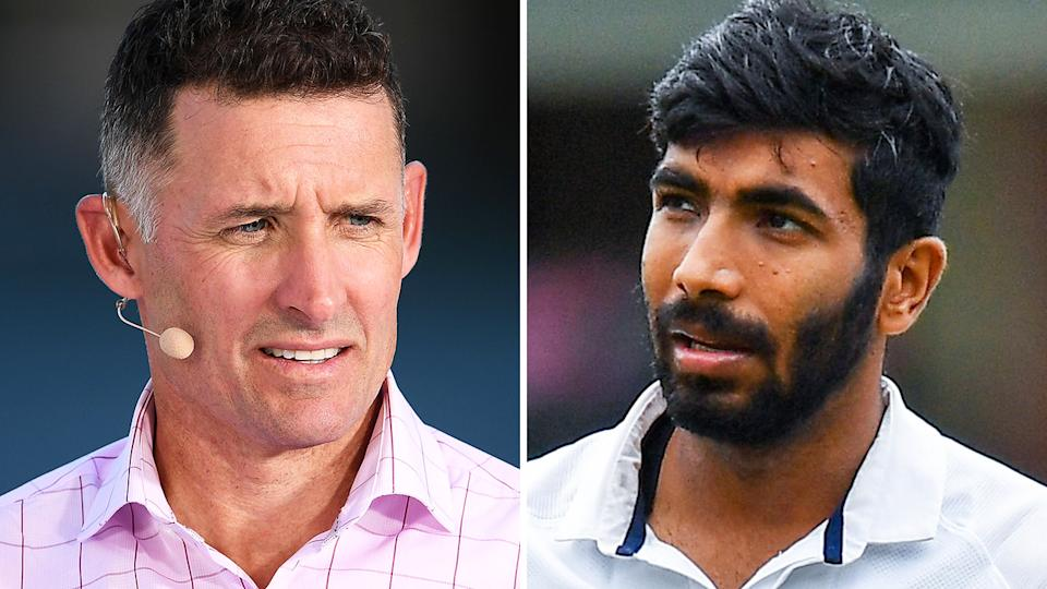 Former Australian Test batsman Michael Hussey has called for life bans against fans who racially abused Indian bowler Jasprit Bumrah. Pictures: Getty Images