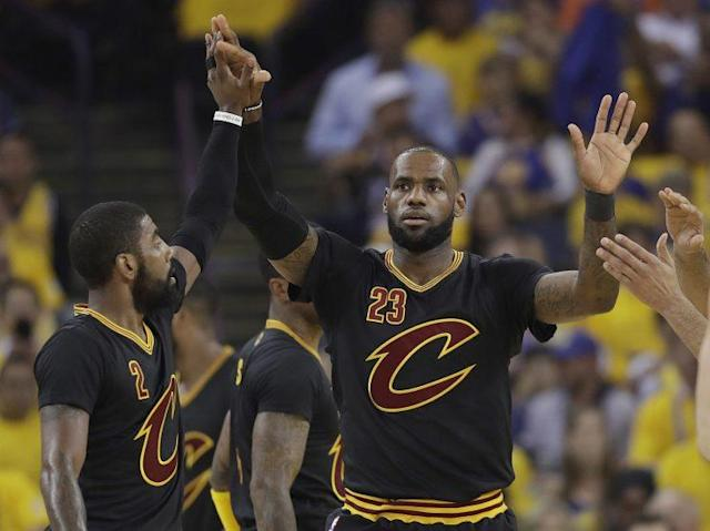 "The future of <a class=""link rapid-noclick-resp"" href=""/nba/players/3704/"" data-ylk=""slk:LeBron James"">LeBron James</a> looms over every decision the Cavs make. (AP)"