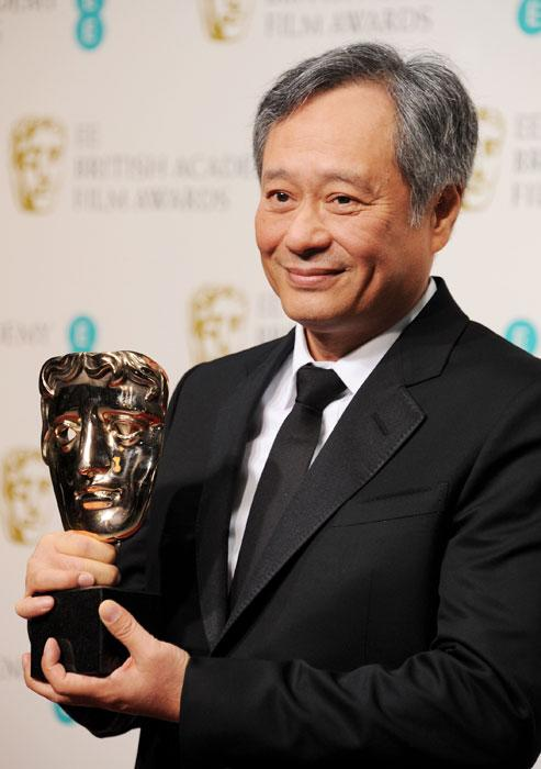 Ang Lee, accepting the Best Cinematography award on behalf of Claudio Miranda pose in the Press Room at the EE British Academy Film Awards at The Royal Opera House on February 10, 2013 in London, England. (Photo by Dave M. Benett/Getty Images)