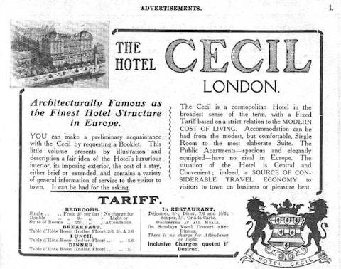 An ad for The Cecil